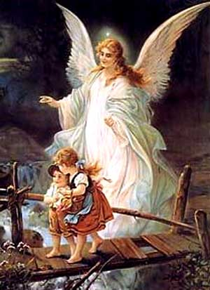 Guardian Angels Painting